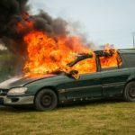 Požár vozidla
